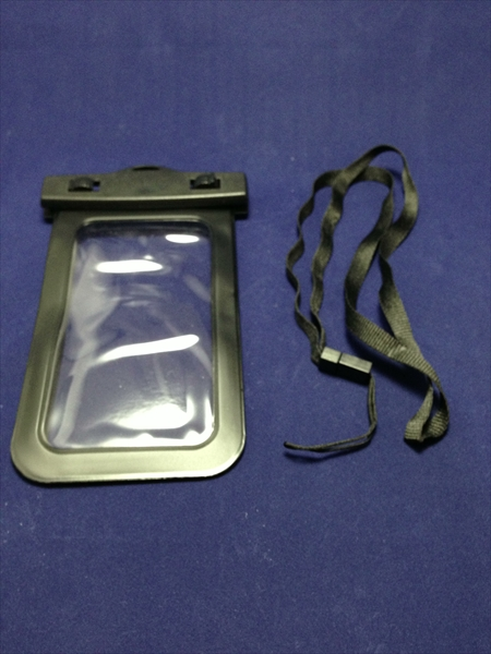 Acase+ ストラップ付 シースルー 防水ケース ブラック Waterproof Case for Apple iPhone5 | GALAXY S III | ARROWS | AQUOS Phone | Xperia(防水保護等級:IPx8)