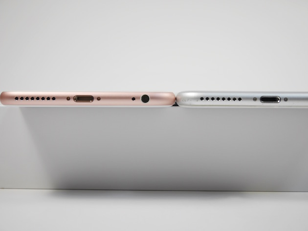 iPhone6sとiPhone6の薄さ比較
