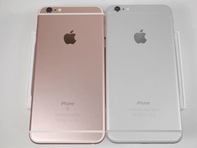 iPhone6sとiPhone6の裏面比較